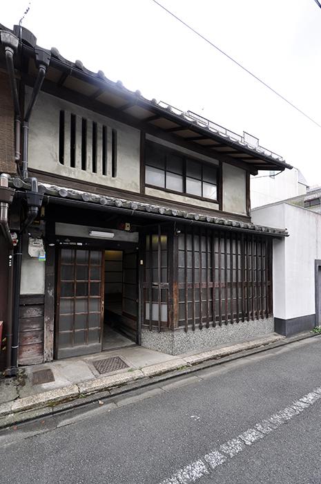 Machiya-hus med affär