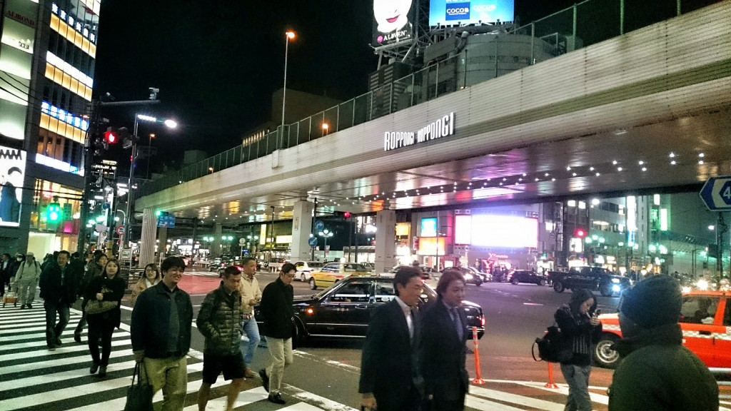 Roppongi crossing, mitt i nattlivet