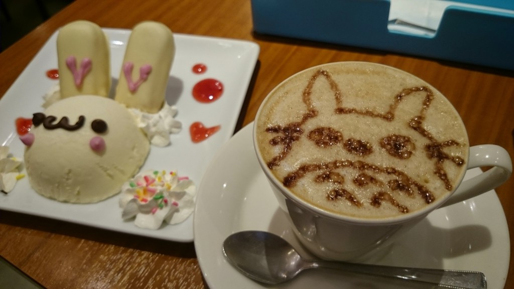 Totoro coffee at maid cafe