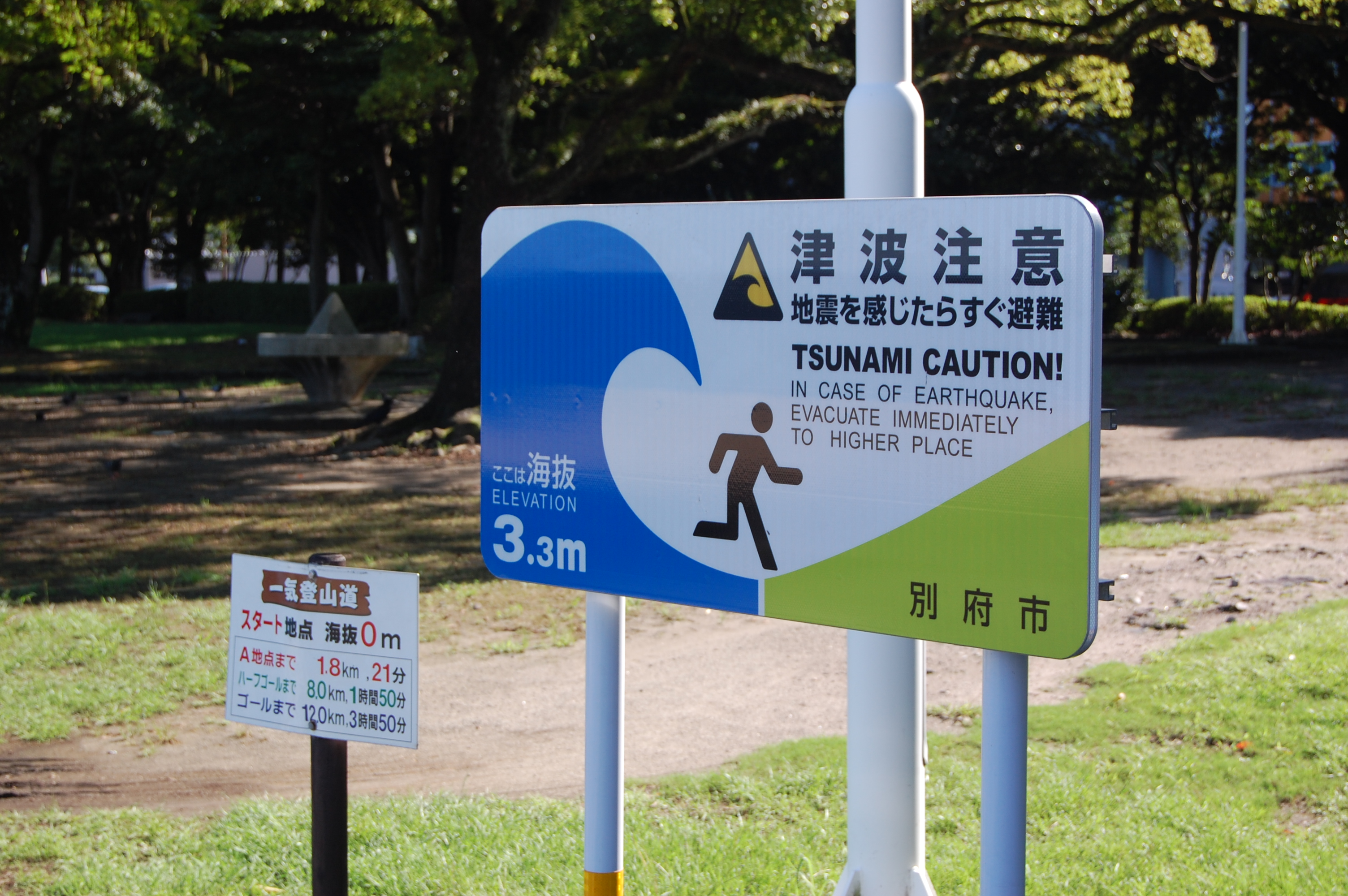 Tsunami warning sign 2