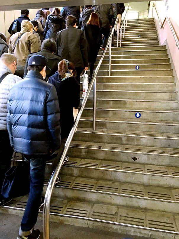 Japanese subway stairs